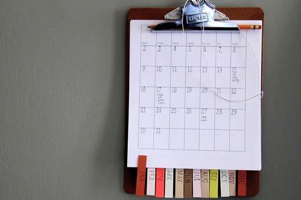 Создание офисного календаря своими руками