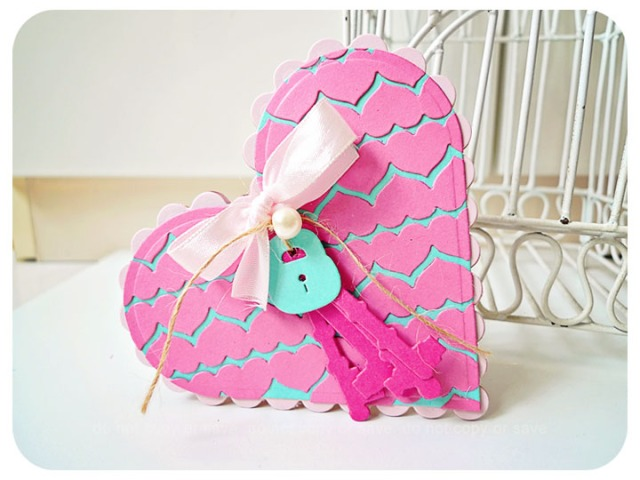 Heart Shape Border card