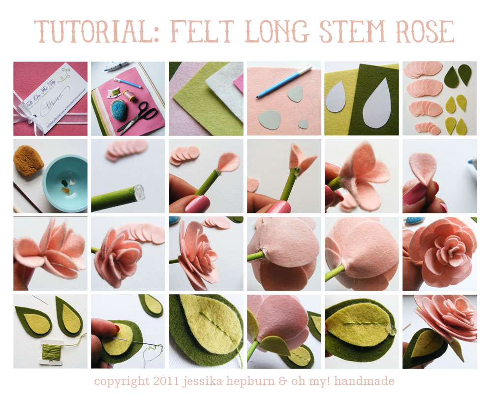 Inspirational monday do it yourself diy flower series long inspirational monday do it yourself diy flower series long stem felt flower baditri Gallery