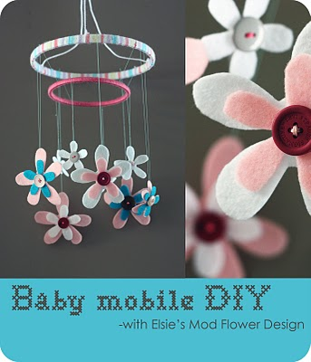 Inspirational monday do it yourself diy flower series for Diy felt flower mobile