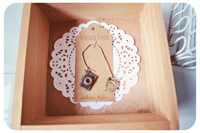 camera & clock charm bookmark