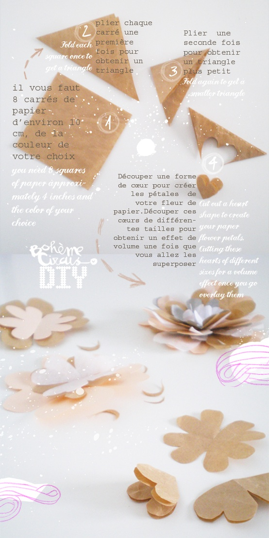DIY Hearts Flowers