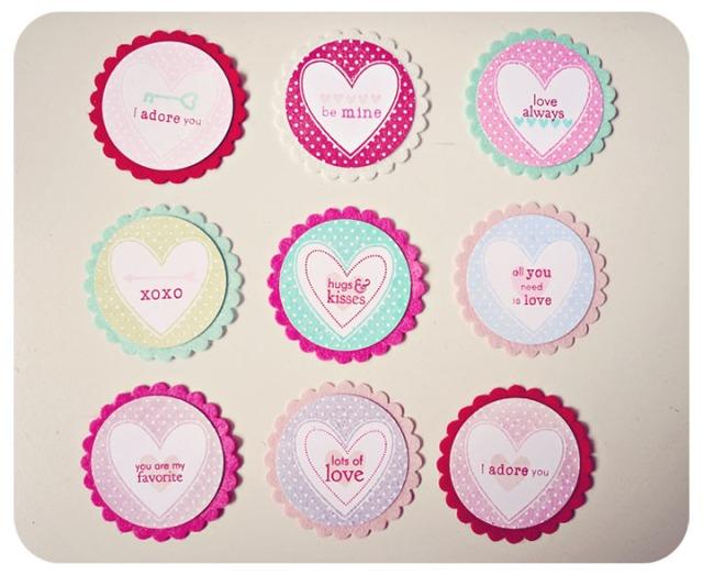 Circle Heart Tags
