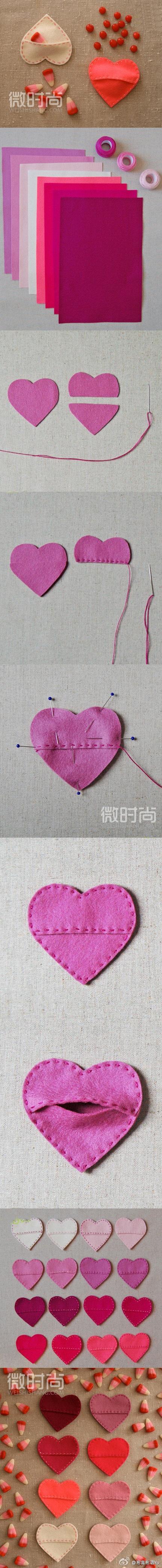 heart shape Felt package