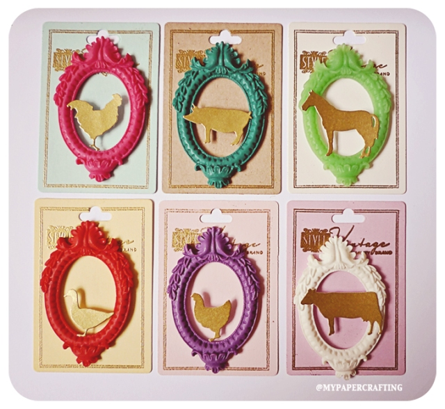 Oval Frame Animals