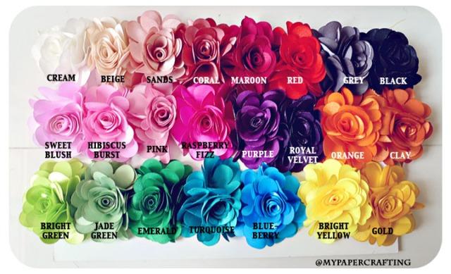 "Satin Big Rose Flower - 3"""