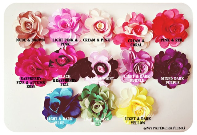 Mixed 2-tone color Satin Rose Flowers - 2.5""