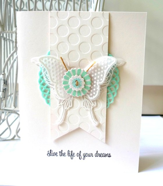 Felt Doily used on a card