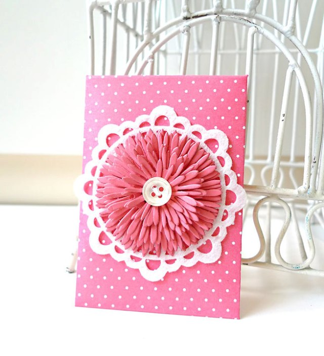 Envelope with felt doily
