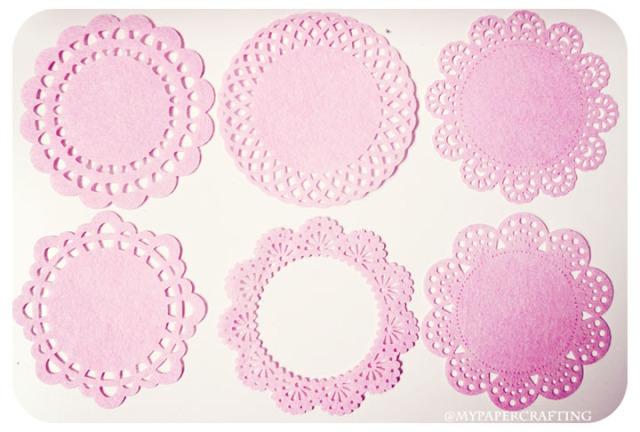 Pink Felt Doily