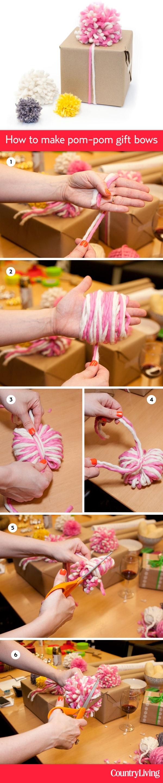 pom pom gift bow