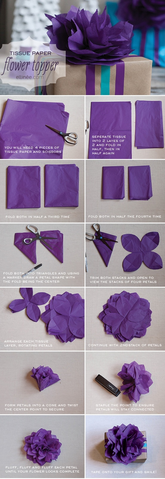 tissue topper flower