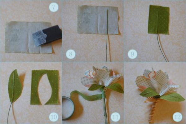 DIY Fabric Flower Boutonnieres