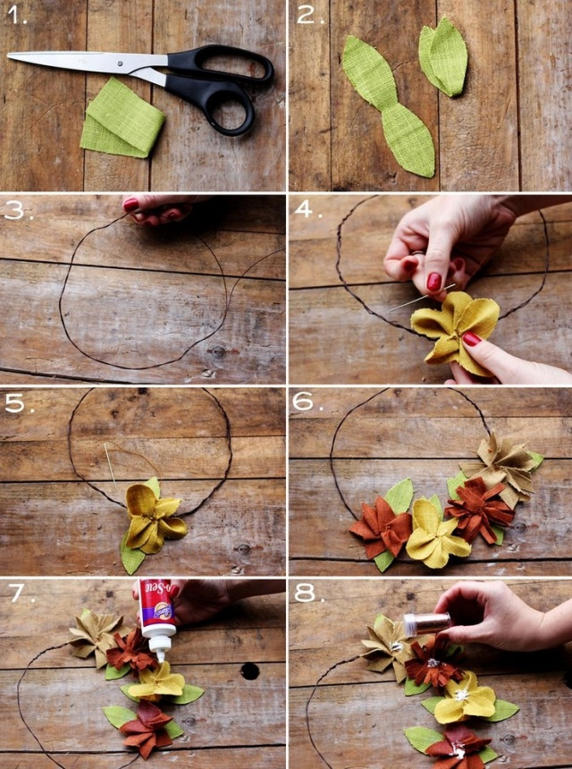DIY autumn crown