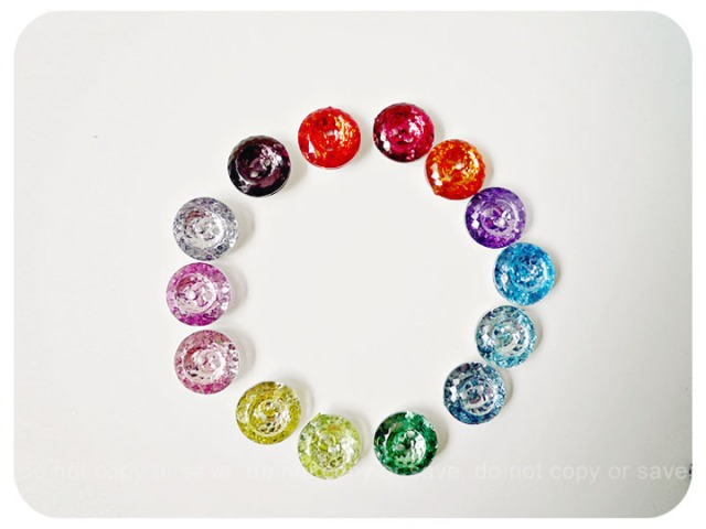 Colorful Sparkling Buttons