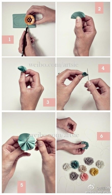 DIY Satin flower