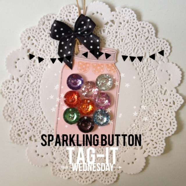 Sparkle Buttons Jar Tags