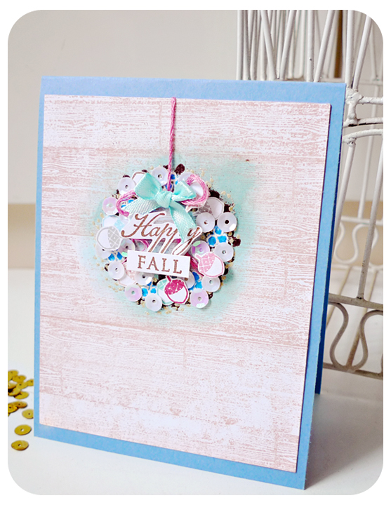 Happy Fall Wreath Card