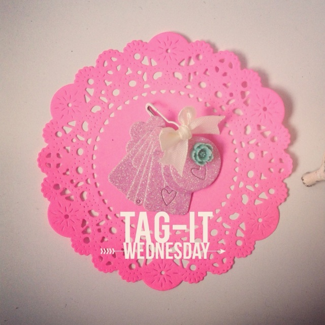 Glitter Pink Tiny Tags