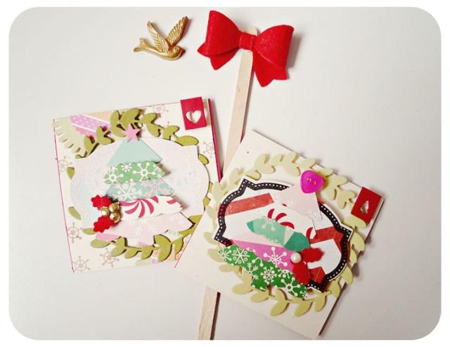 Mini Mixed Christmas Tree Card