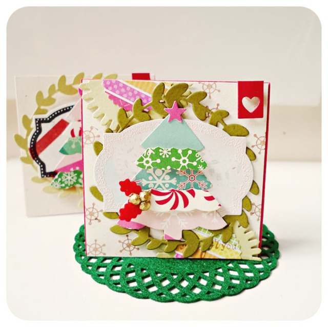 Mini Mixed Christmas Tree Card