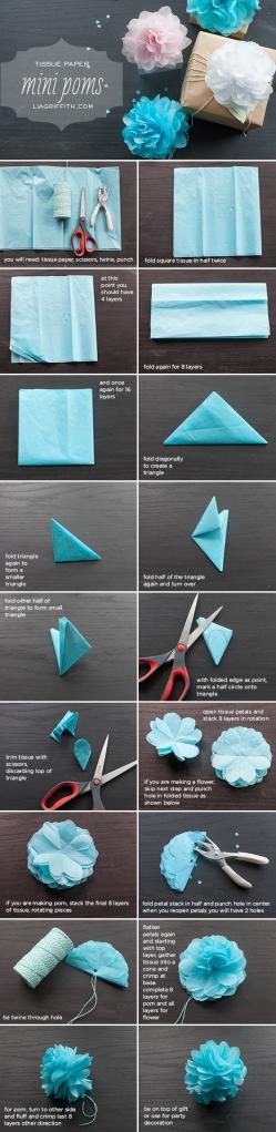 Tissue paper mini pom pom