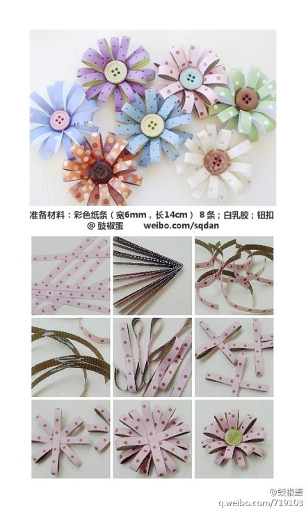 Diy Paper Flower Strips