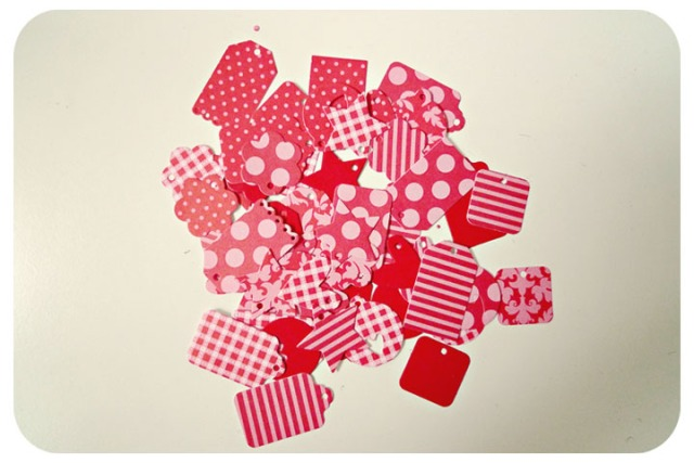 Tiny Red Mixed Pattern Tags