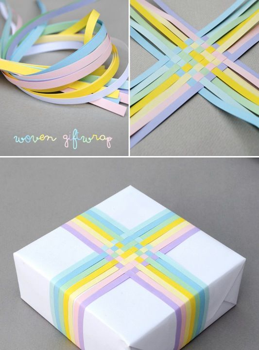 woven gift wrapping