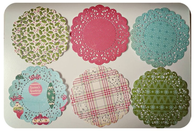 Christmas Parisian Lace paper doily OF Holiday Style