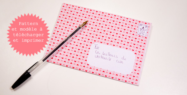 heartprint envelope printable