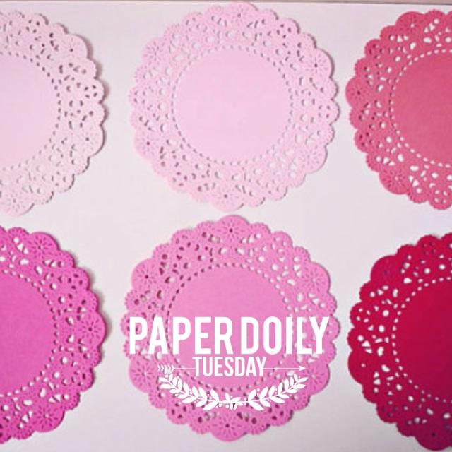 Parisian Lace Pink Paper Doilies