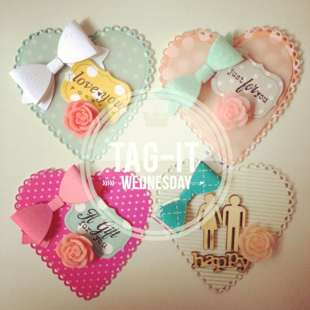 Heartshape Bow Tags