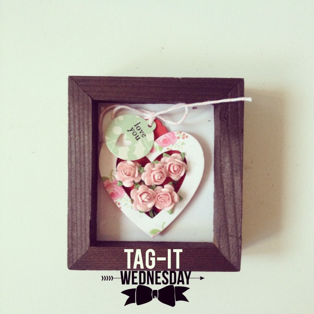 Heartshape Mini Flower Tag