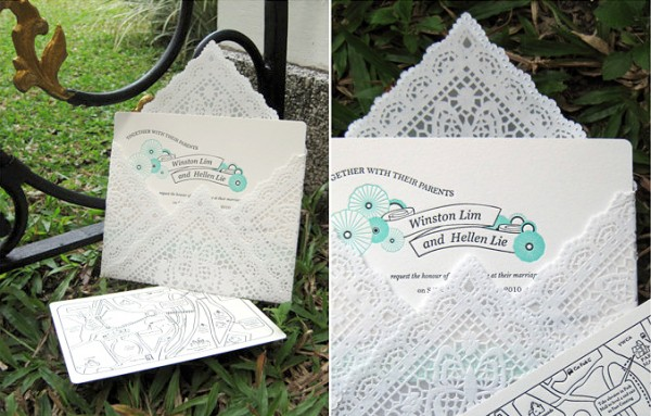 Square doily envelope