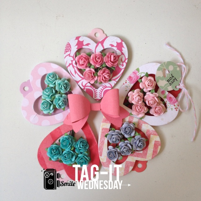 More Heart shape flower Tags