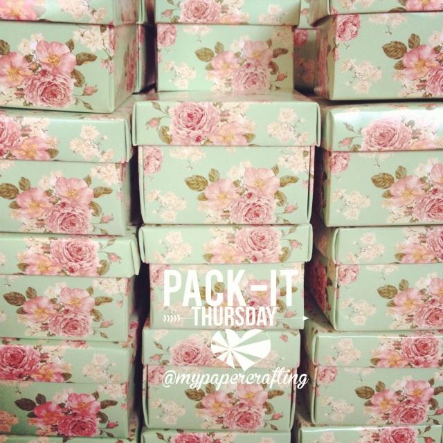 MInt Floral Favor Box